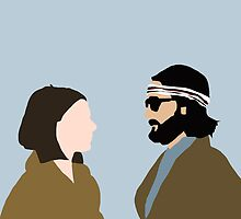 Margot and Richie Tenenbaum by Paula Morales