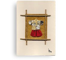 man kimono Canvas Print