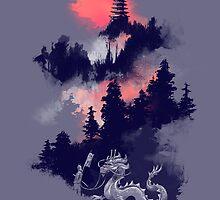 Samurai's life (violet hue) by Budi Kwan