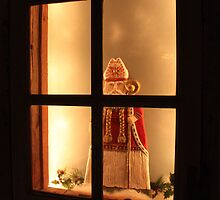 Little Antique Santa in the Window by SummerJade