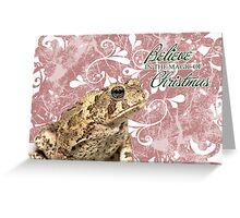 Toad Holiday Card 1 Greeting Card