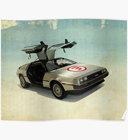 Number 3 - DeLorean Poster