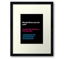 Why Did Onew Cross the Road? Framed Print