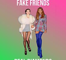 """FAKE FRIENDS, REAL DIAMONDS"" Kate Moss and Naomi Campbell Case by pablacito"