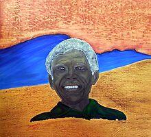 Nelson Mandela. Portrait of a Man. By Jane Flowers by janeflowersart