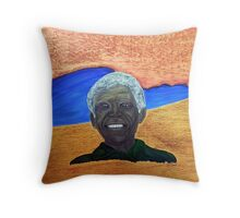 Nelson Mandela. Portrait of a Man. By Jane Flowers Throw Pillow