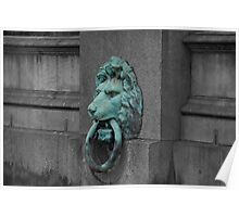 Lion on Thames River Poster