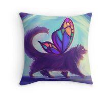 Rainbow Bridge Fairy Throw Pillow