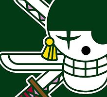【4700+ views】ONE PIECE: Jolly Roger of Roronoa Zoro by Ruo7in