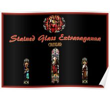 Stained Glass Extravaganza Calendar Cover Poster