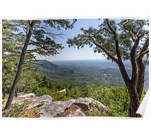 Overlook at Fort Mountain Poster