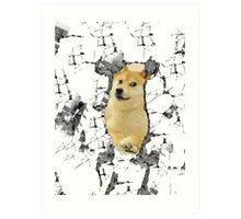Attack on Doge Art Print