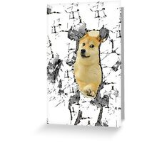 Attack on Doge Greeting Card