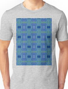 blue/ lime stripes and rectangles Unisex T-Shirt