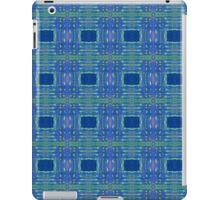 blue/ lime stripes and rectangles iPad Case/Skin