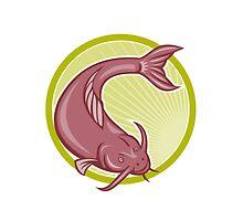 Angry Catfish Diving Down Cartoon by patrimonio