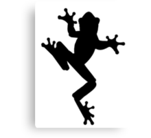 Frog Silhouette Canvas Print