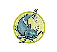 Catfish Attacking Circle Cartoon by patrimonio