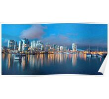 City scape by the water Poster
