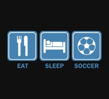 Eat Sleep Soccer Kids Tee