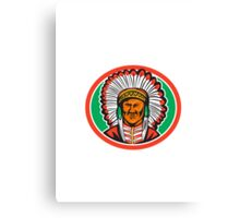 Native American Indian Chief Headdress Canvas Print