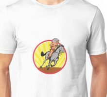 Native American Indian Chief Riding Horse Unisex T-Shirt