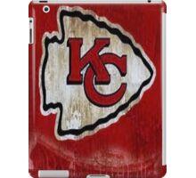 Vintage Kansas City Chiefs Designer Logo and Stadium iPad Case/Skin