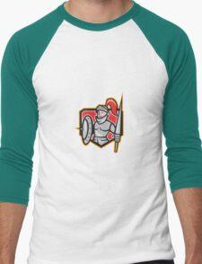 Knight Shield Lance Crest Cartoon T-Shirt
