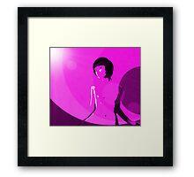 Retro Pink Framed Print