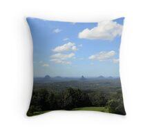 Glasshouse Mountains Throw Pillow