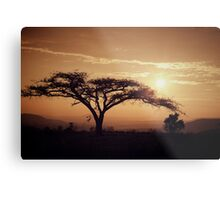 South Africa sunset Metal Print