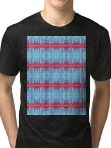 blue and red stripes Tri-blend T-Shirt