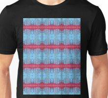 blue and red stripes Unisex T-Shirt