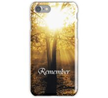 Remember iPhone Case/Skin