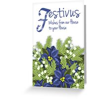 Happy Festivus Winter Holiday Greeting Card Greeting Card