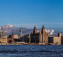 Liverpool Skyline in the sun by Paul Madden