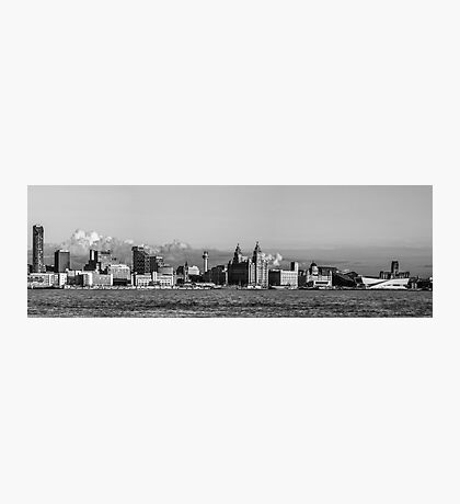 Liverpool skyline black and white Photographic Print