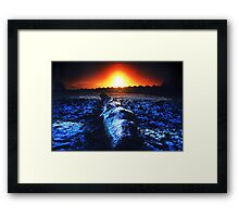 Freezing by the furnace Framed Print
