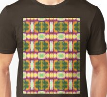 colorful rust, gold, olive blocks Unisex T-Shirt