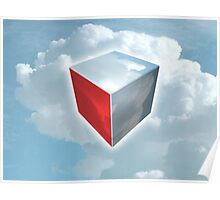 cubed clouds Poster