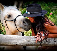 COWGIRL and MATE. by Barbara  Jean