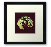 The jungle says hello Framed Print