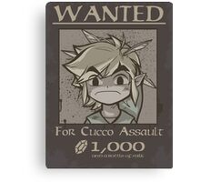 Wanted - Cucco Assault Canvas Print