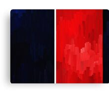 Blue Red Canvas Print