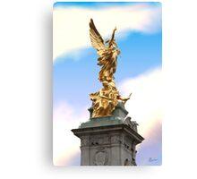 Golden Angel statue London Canvas Print