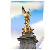 Golden Angel statue London Poster