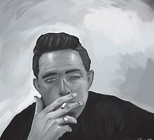 Johny Cash B&W by Richard Eijkenbroek