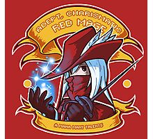 Adept, Charismatic Red Mage Photographic Print