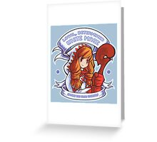 Loyal, Determined White Mage Greeting Card