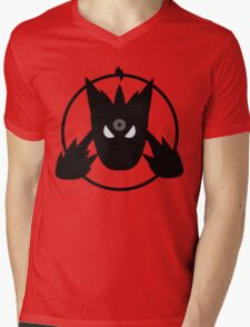 MEGA SHADOW Mens V-Neck T-Shirt